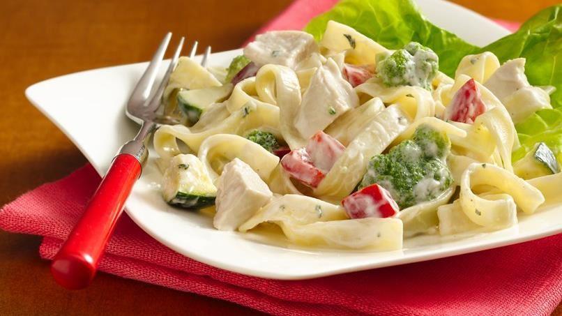 Chicken Alfredo Salad