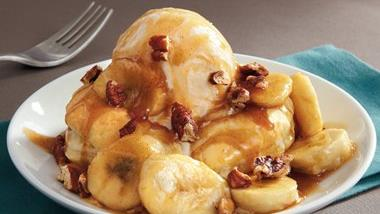 Bananas Foster Ice Cream Pastry