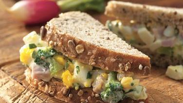 Summer Ham and Egg Salad Sandwiches