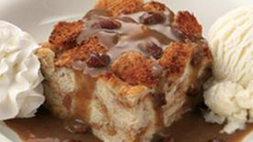 Famous Dave's Bread Pudding with Praline Sauce