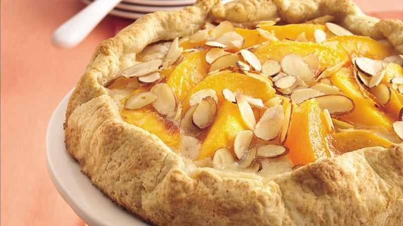 Almond-Peach Fold-Over Coffee Cake