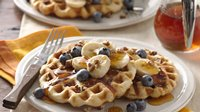 Pecan Biscuit Waffles for Two