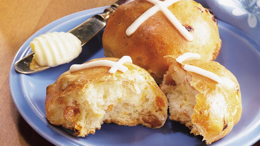 Bread Machine Hot Cross Buns