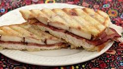 Turkey, Pear and Raspberry Panini