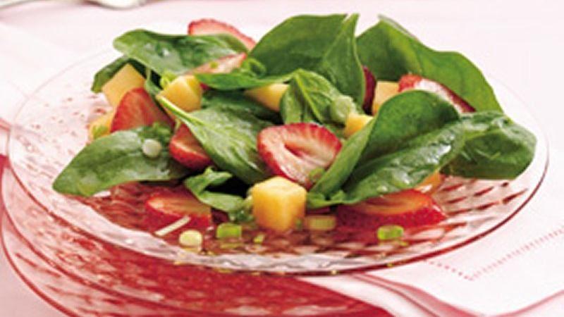 Strawberry-Melon Spinach Salad