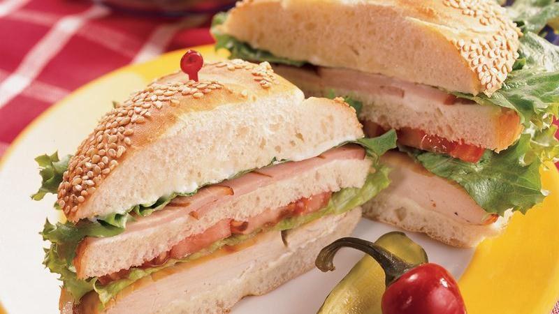 Grilled Chicken Club Sandwiches