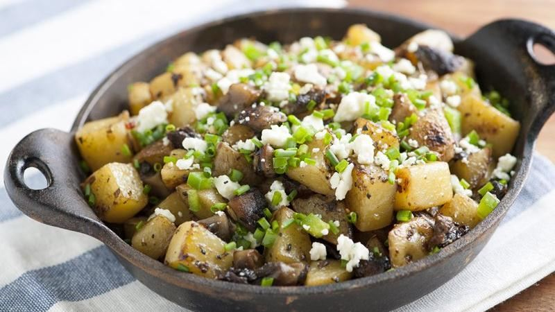 Spicy Portabella and Potato Hash