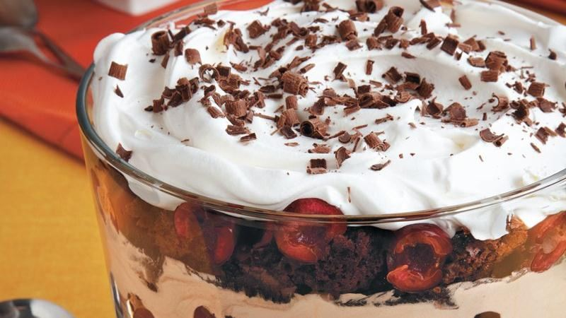 Black Forest Trifle recipe from Betty Crocker