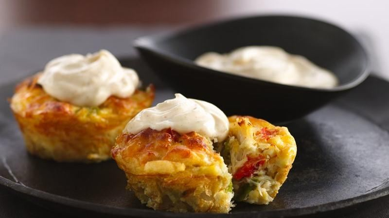 Impossibly Easy Mini Crab Cake Pies recipe from Betty Crocker