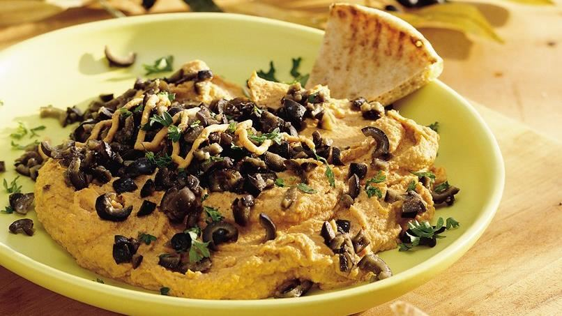 Hummus and Olive Tapenade Spread