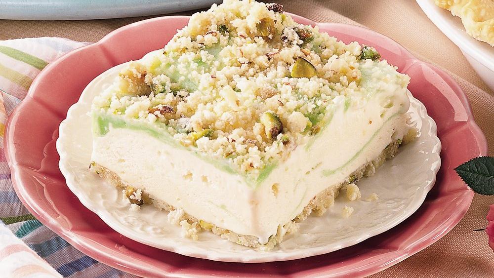 Pistachio-Lime Ice Cream Squares