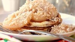 Cinnamon-Swirl Apple Flapjacks