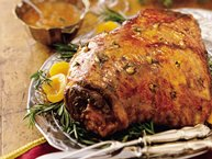Apricot- and Rosemary-Marinated Leg of Lamb