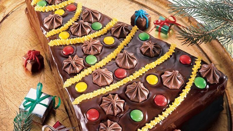 Tree-Shaped Brownie Torte