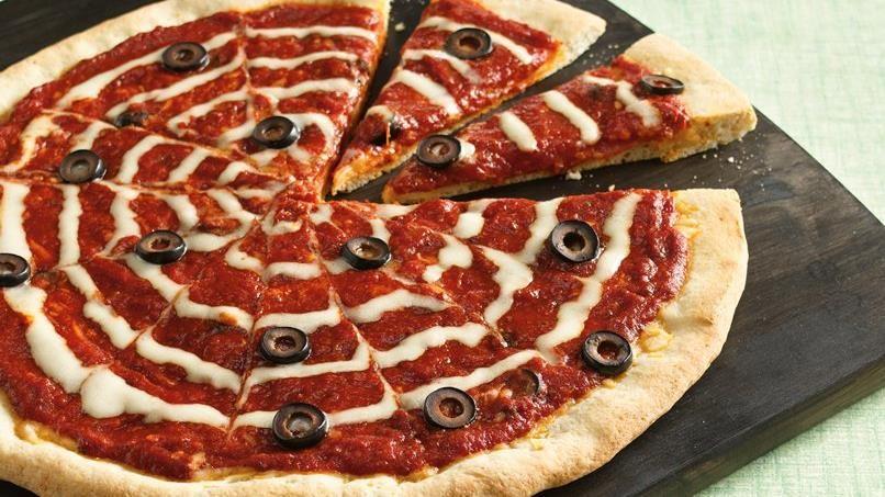 Halloween Spiderweb Pizza