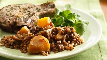 Rye Berries with Butternut Squash