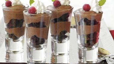 Chocolate-Toffee Brownie Shooters