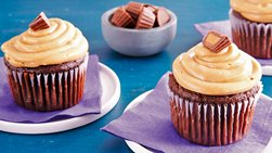 Chocolate Peanut Butter Candy Cupcakes