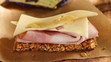 Ham and Cheese Granola Bars