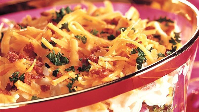 Seven-Layer Holiday Pasta Salad