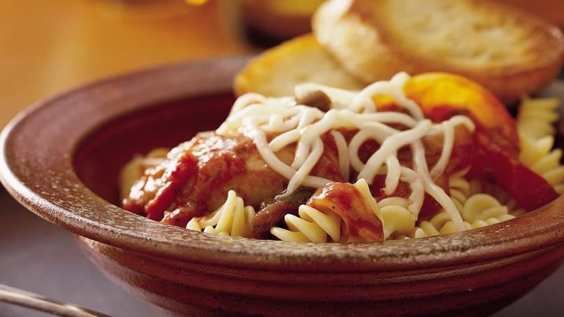 Slow-Cooker Pizza Chicken