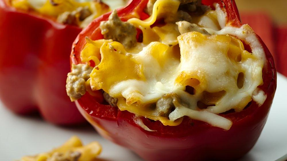 Cheesy Lasagna Stuffed Peppers