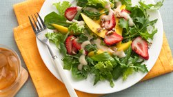 Spring Salad with Ginger Peach Tea Dressing