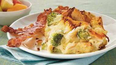 Make-Ahead Alfredo Strata