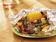 Burger and Veggie Foil Packets