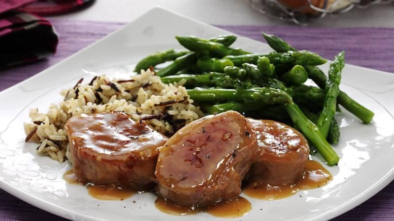 Honey Dijon Pork Tenderloin with Asparagus