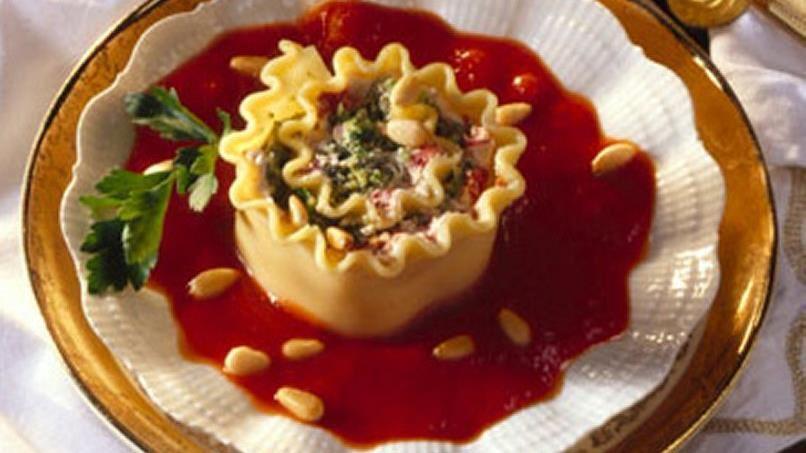 Pasta Cream Cheese Broccoli Roll-Ups