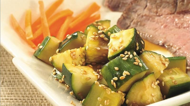 Asian Cucumber-Zucchini Salad