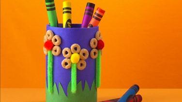 Flower Power Crayon Holder