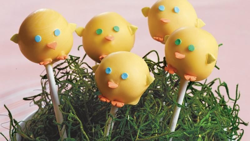 Spring Chicks Cake Pops