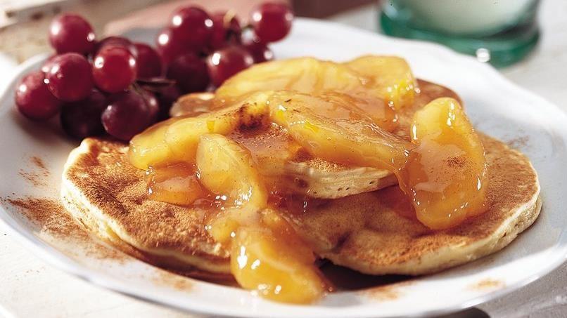 Ham and Apple Pancakes