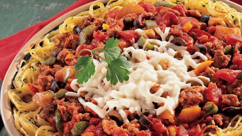 Spaghetti and Sausage Pie