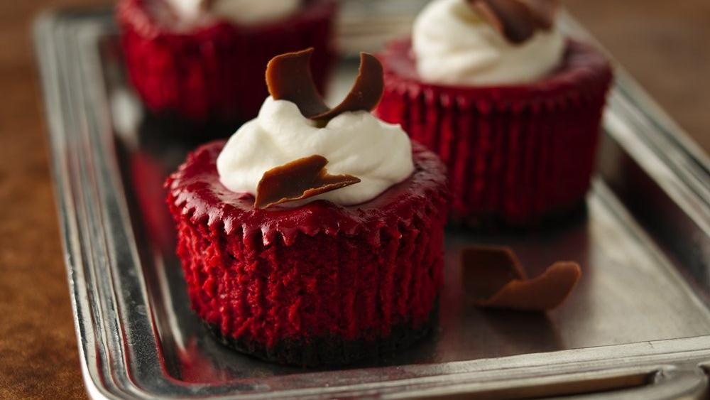 Mini Red Velvet Cheesecakes