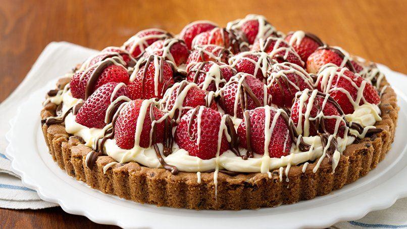 Strawberry-Mascarpone-Hazelnut Chocolate Tart recipe from Pillsbury ...