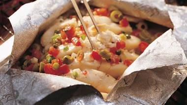 Grilled Mexican Fish Foil Pack