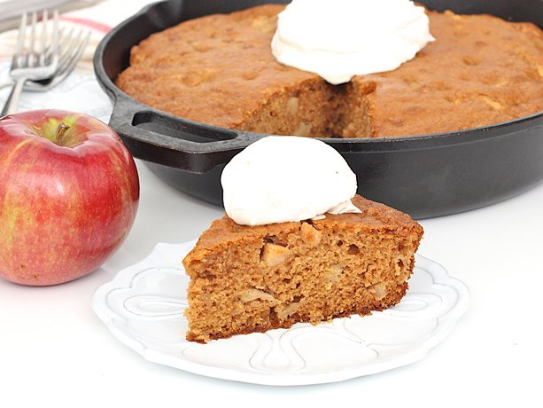 simple scrumptious skillet cake full of sweet apples and comforting ...