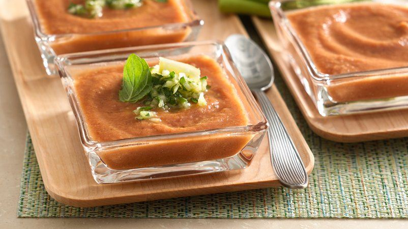 Fire Roasted Gazpacho with Tropical Twist
