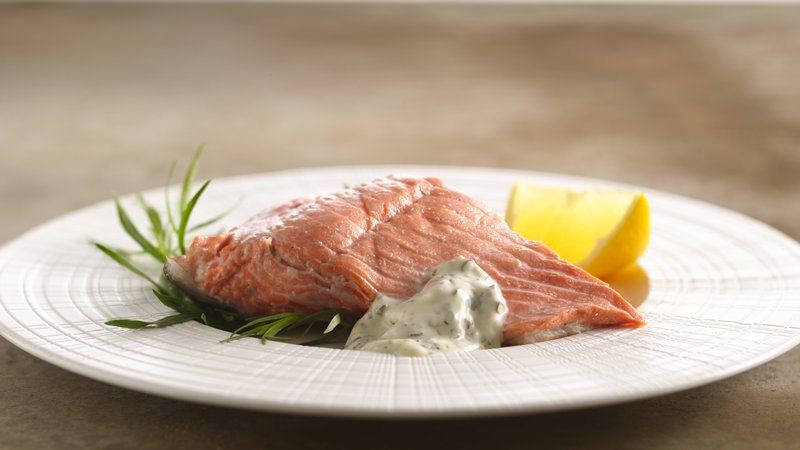 Cold Poached Salmon with Herb Mayonnaise