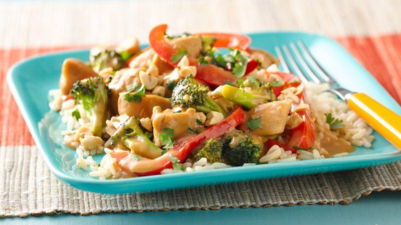 Gluten-Free Spicy Peanut Chicken Stir-Fry recipe from Betty Crocker