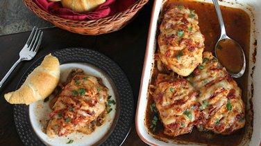 Italian Hasselback Chicken Breasts