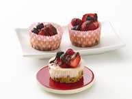 Gluten-Free Triple Berry Mini Cheesecakes