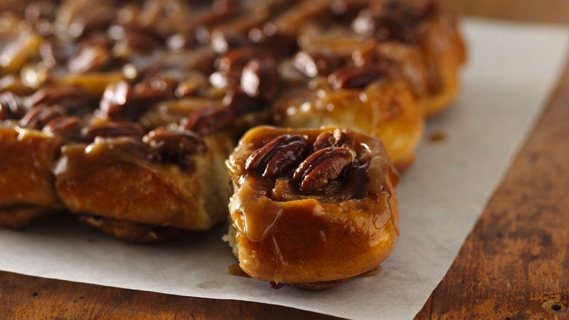 Caramel-Pecan Sticky Rolls recipe from Betty Crocker