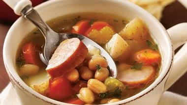 Slow-Cooker Smoked Sausage and Bean Soup