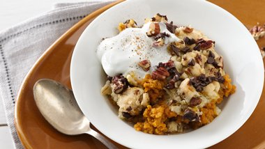 Pumpkin and Sweet Potato Breakfast Bake