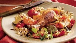 Pollo al Horno y Arroz con Verduras de Otoño