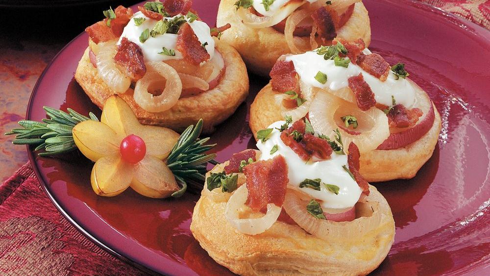 Potato and Bacon Mini Pizzas